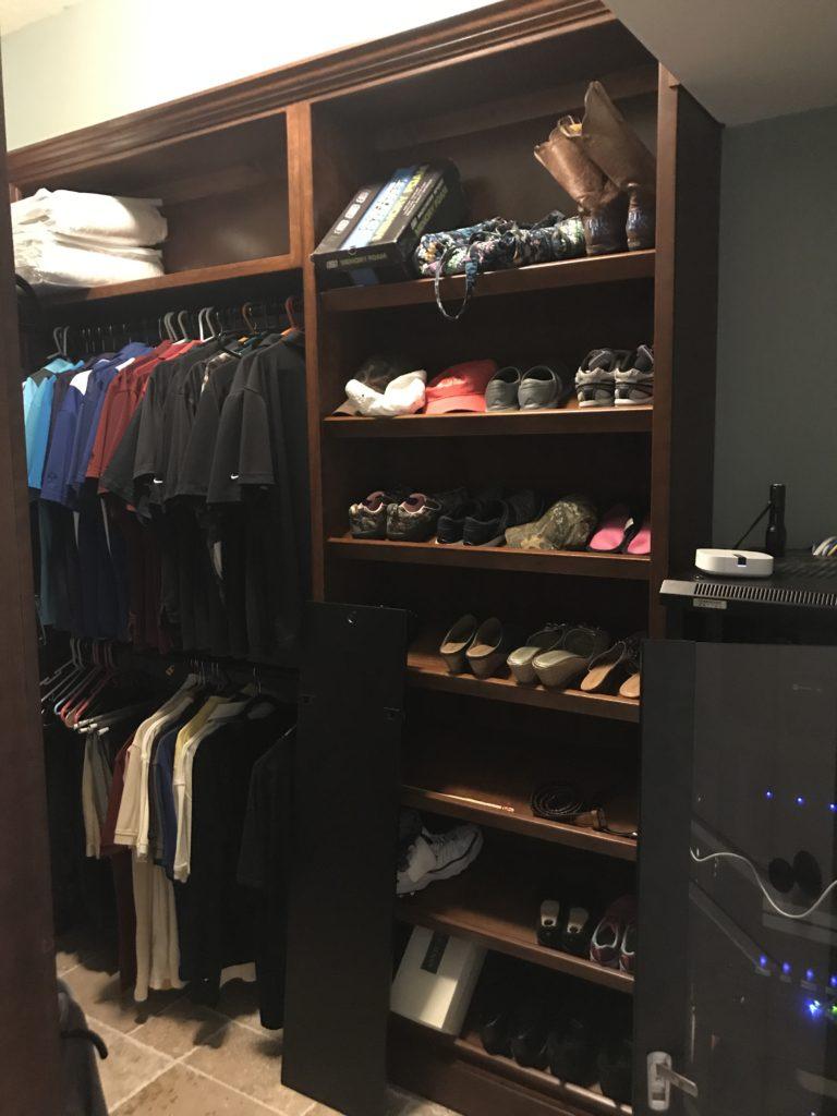 custom cherry closet