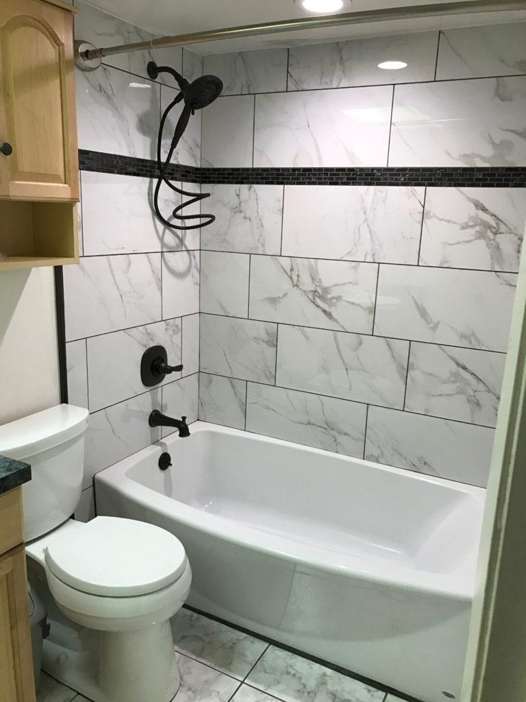 Tub and tile