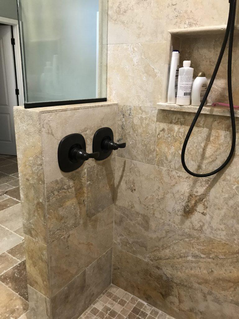 two oil bronze shower valves