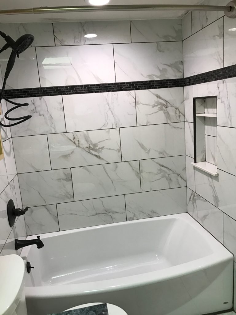 New tub and tile surround