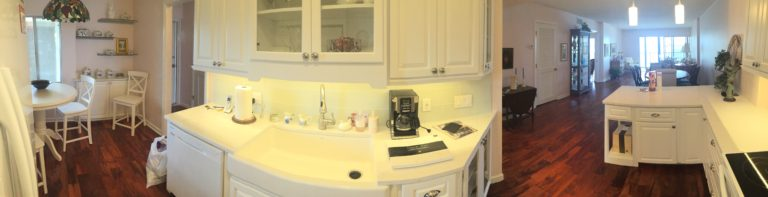 quartz top new custom cabinets with farm sink