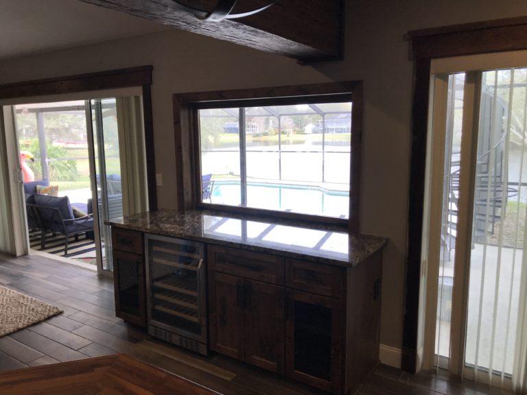 custom cabinet wine chiller custom window