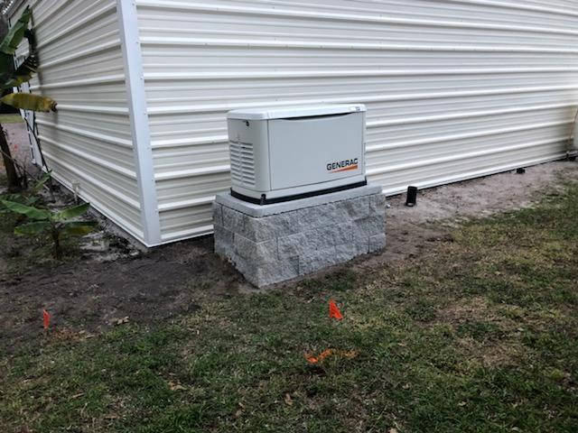 22KW generator elevated