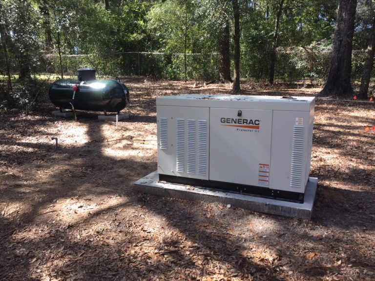 22kw generator with 200amp transfer switch propane tank
