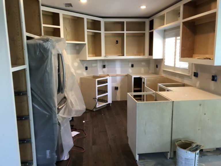 white cabinet install