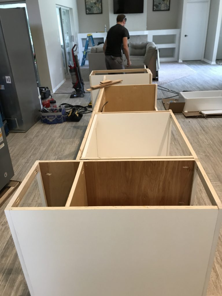 Lake house - cabinet install
