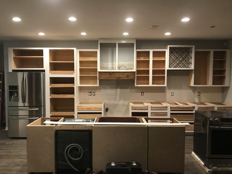 custom cabinets with custom hood