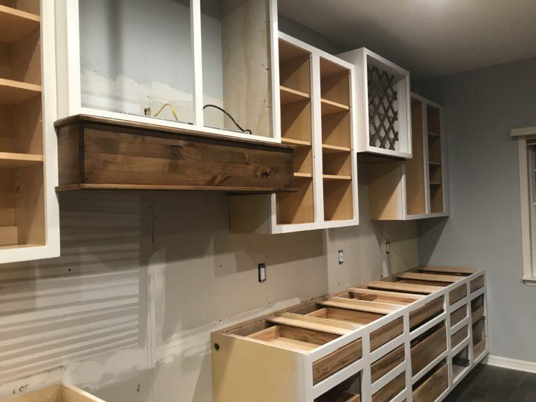 custom cabinet install