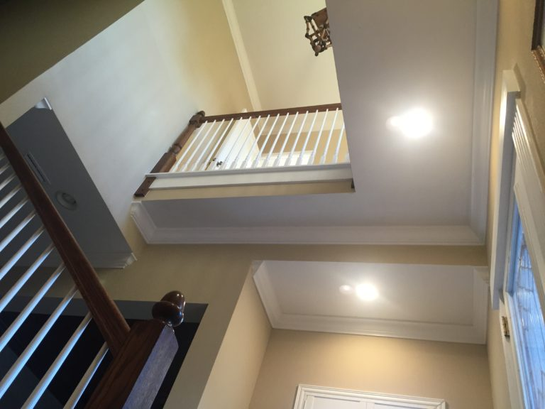Stair railing treads risers newel baluster